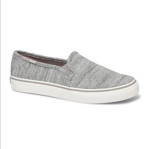 Keds Jersey Gray 8.5 Double Decker Sneakers NWT